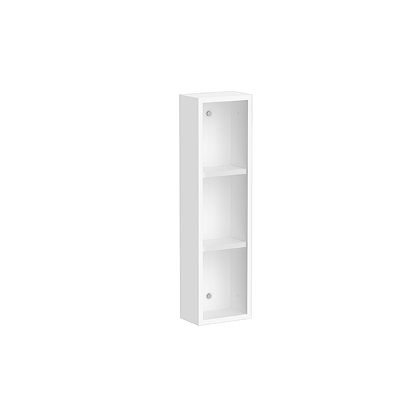 Space master 200mm side cabinet (Matte white, exposed)